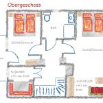 Ferienhaus Harzer Wiesenbaude Grundriss OG